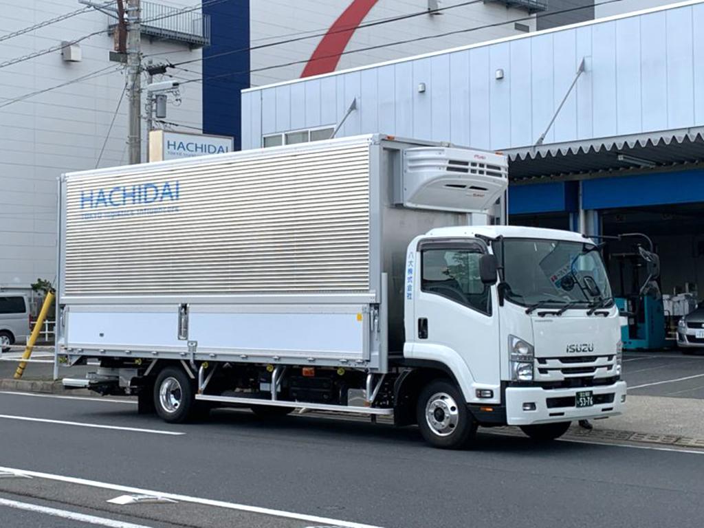 八大株式会社 配送車両 自社所有車両